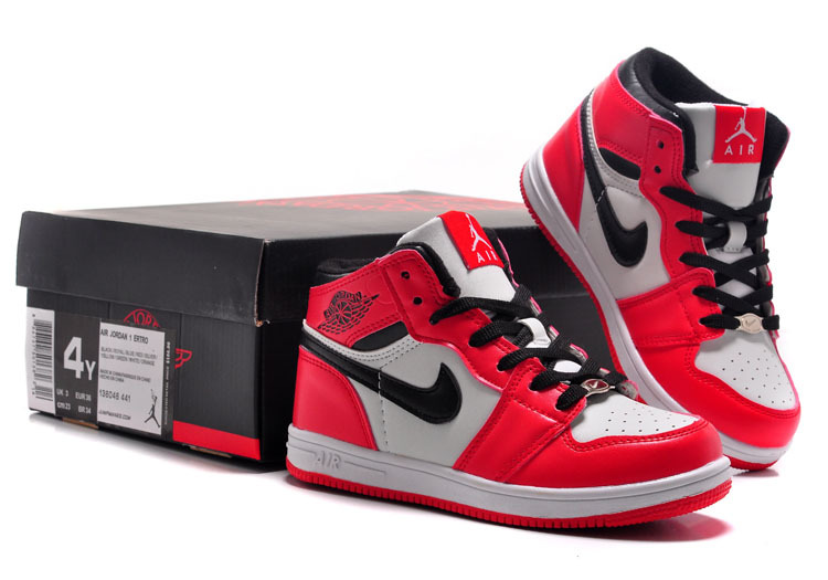 red jordan shoes for kids